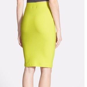 ASTR Neon Green Textured Pencil Skirt XS